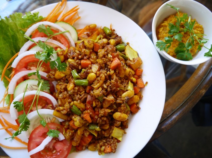 Vegetable Biriyani & Dahl At Karma Waters Vegetarian Restaurant, Hoi An