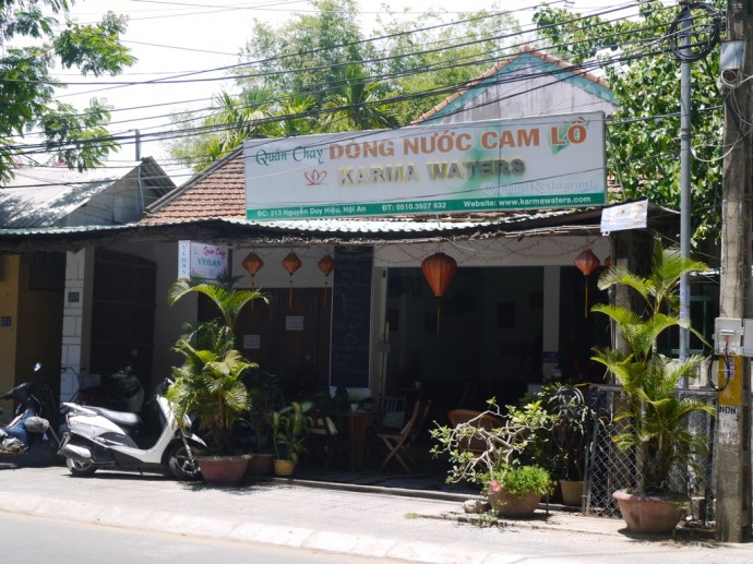 Karma Waters Vegetarian Restaurant In Hoi An, Vietnam