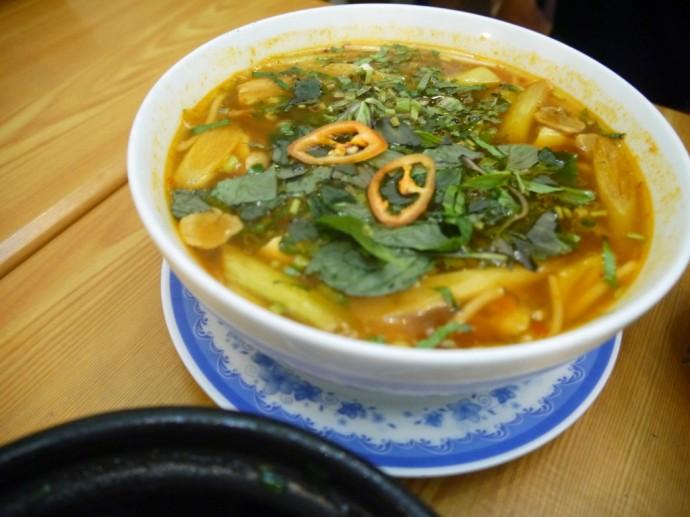 Thai Tom Yum At Ngoc Tho Vegetarian Restaurant, Saigon