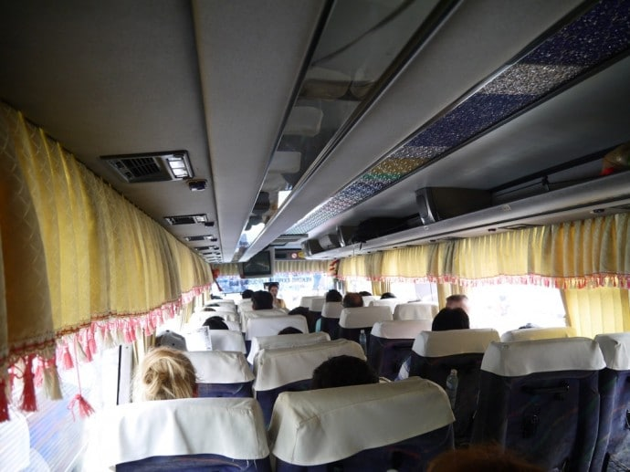 On Board The Saigon To Phnom Penh Bus