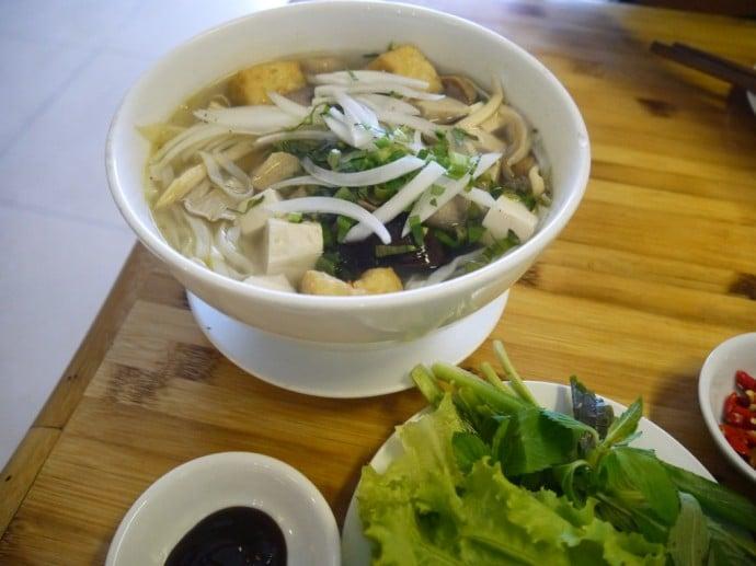 Vegetarian Pho At Quan Chay Yeu Thuong