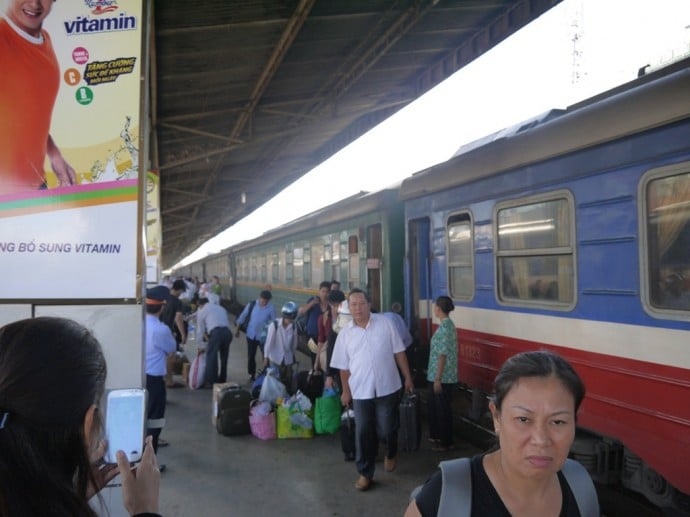 Our Train Arrives In Saigon