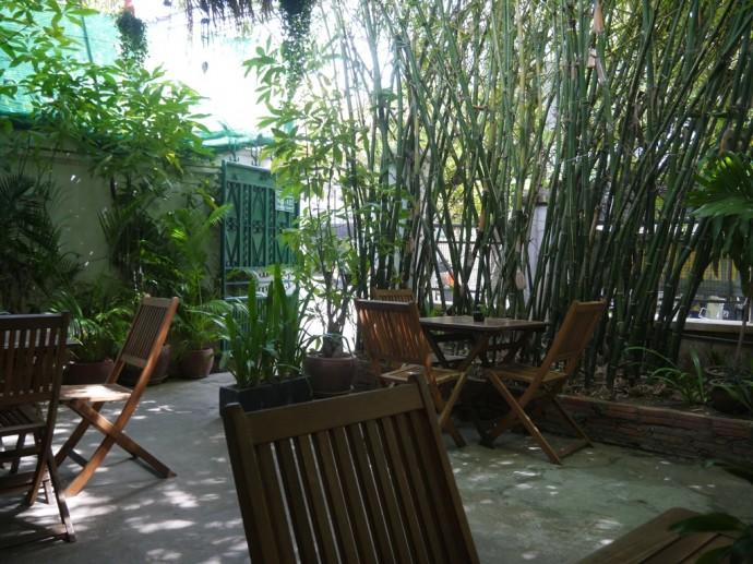 Outdoor Seating At The Vegetarian, Phnom Penh