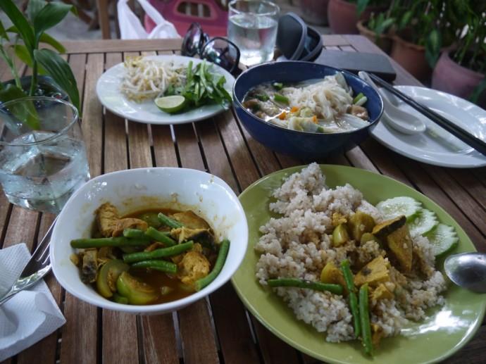 Great Food At The Vegetarian Restaurant, Phnom Penh