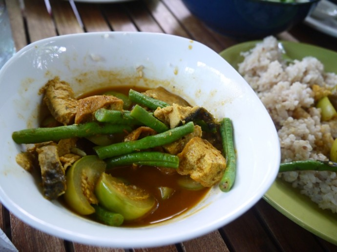 Dry Indian Curry With Vegetarian Fish At The Vegetarian, Phnom Penh