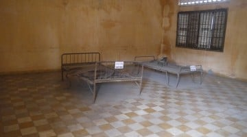 """A Cell At Building """"A"""" At Toul Sleng Genocide Museum"""