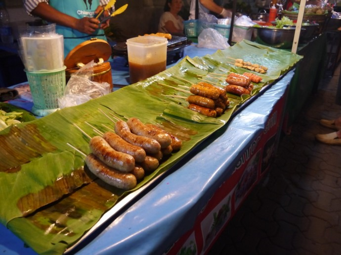Sausages At Chiang Mai Sunday Night Market
