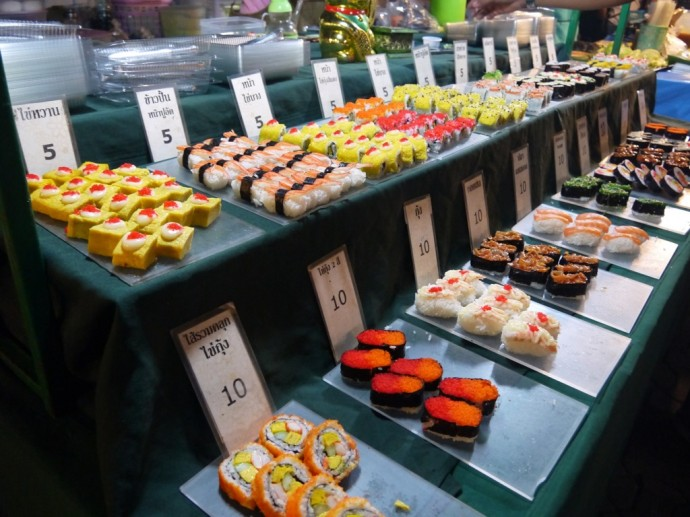 Japanese Sushi At Chiang Mai Sunday Night Market