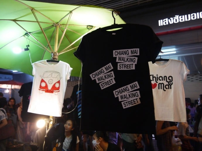 T-Shirts At Sunday Night Walking Street Market, Chiang Mai