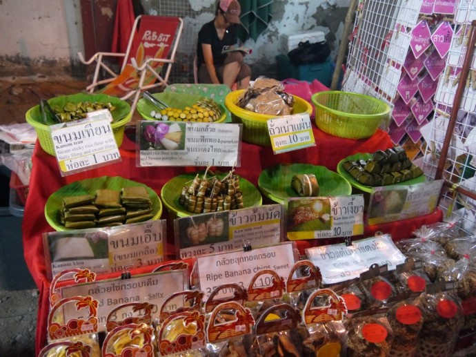 Thai Snacks At Sunday Night Market, Chiang Mai