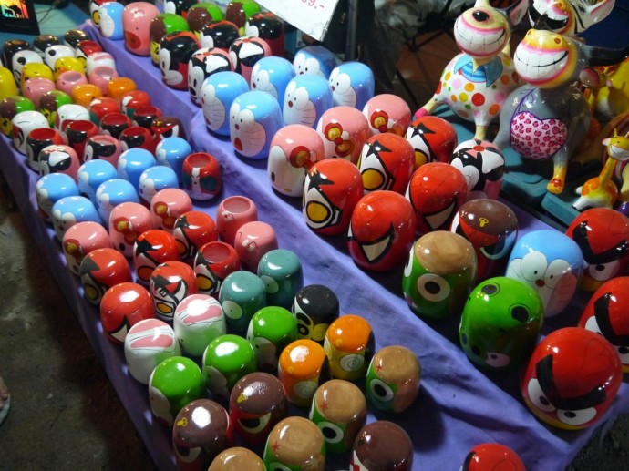 Thai Matryoshka Dolls At Chiang Mai Sunday Night Market