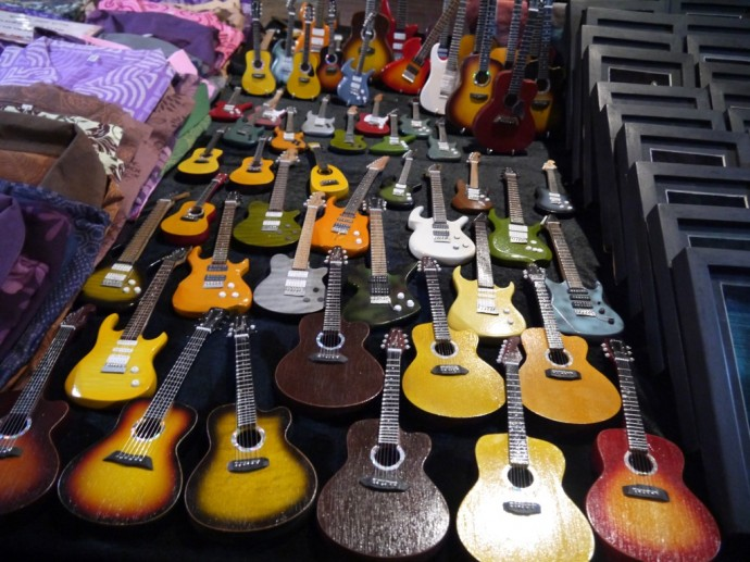 Mini Guitars At Chiang Mai Sunday Market