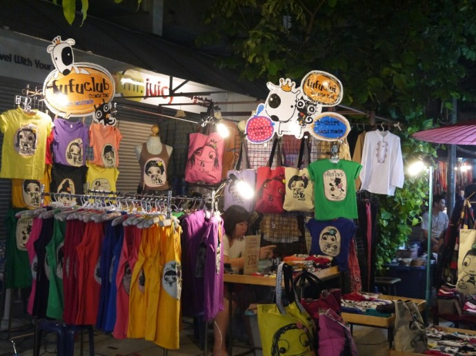 T-Shirt Stall At Sunday Night Market