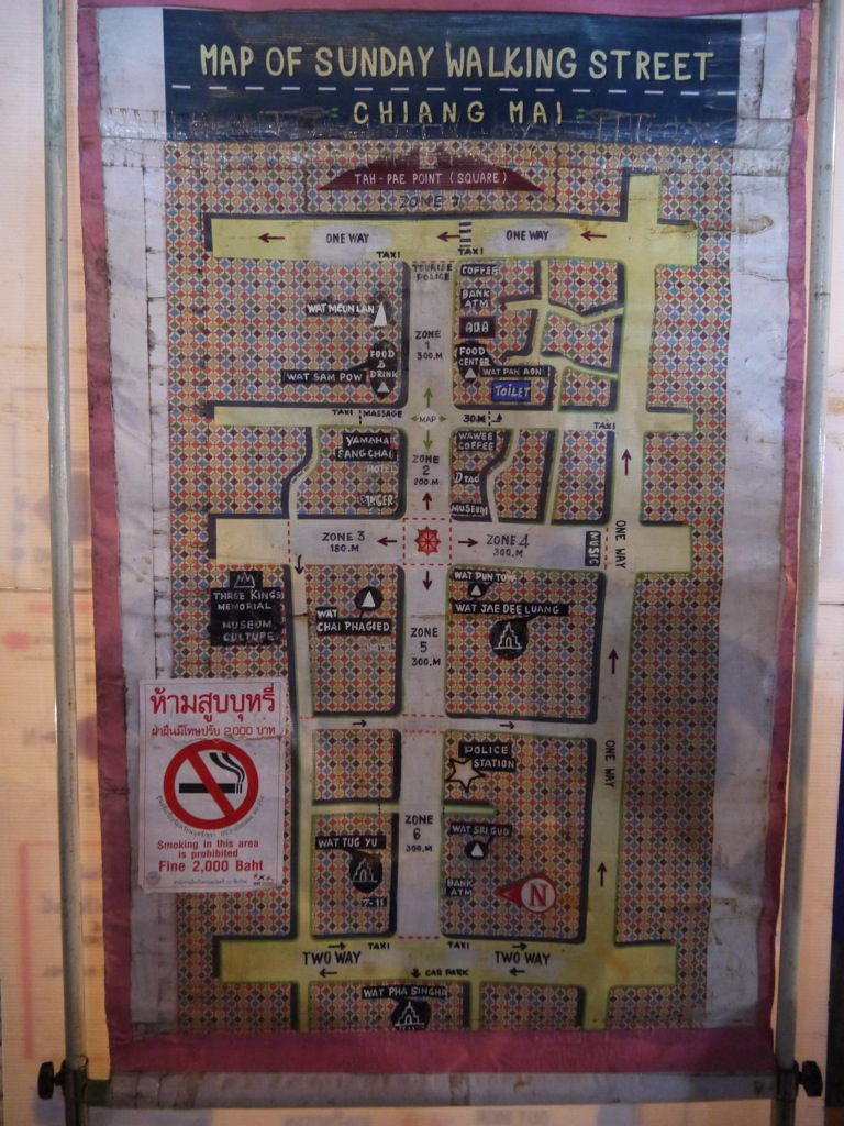 Chiang Mai Night Market Map