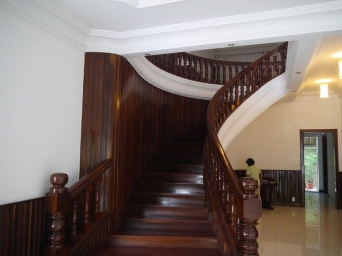 Sweeping Staircase At J Villa, Phnom Penh