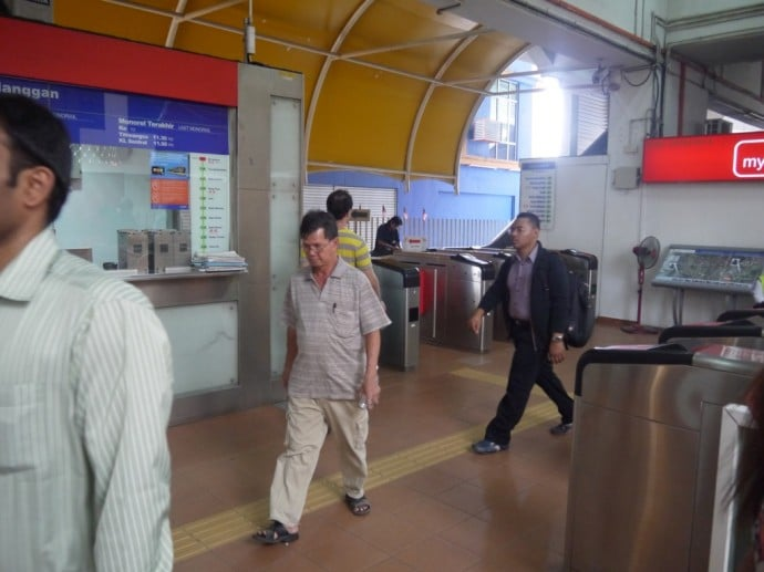 Ticket Barriers At KL Sentral Monorail Station