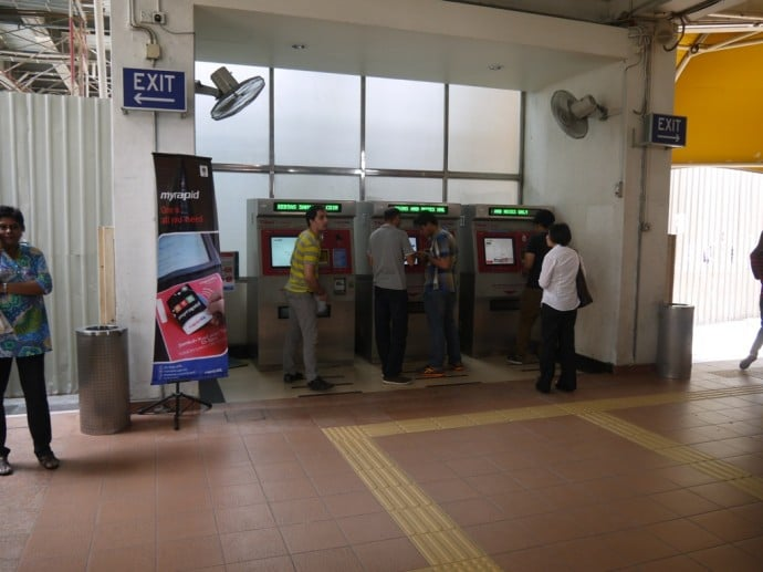 Ticket Machines At KL Sentral Monorail Station