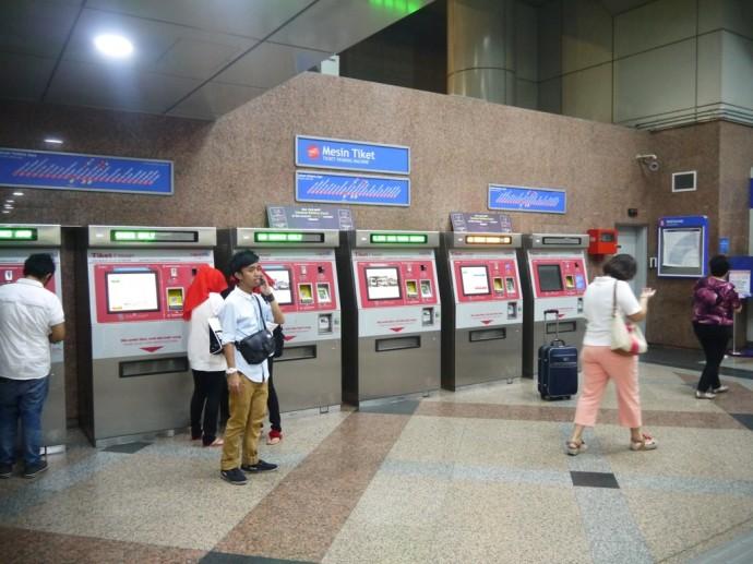 Ticket Machines At KL Sentral Station