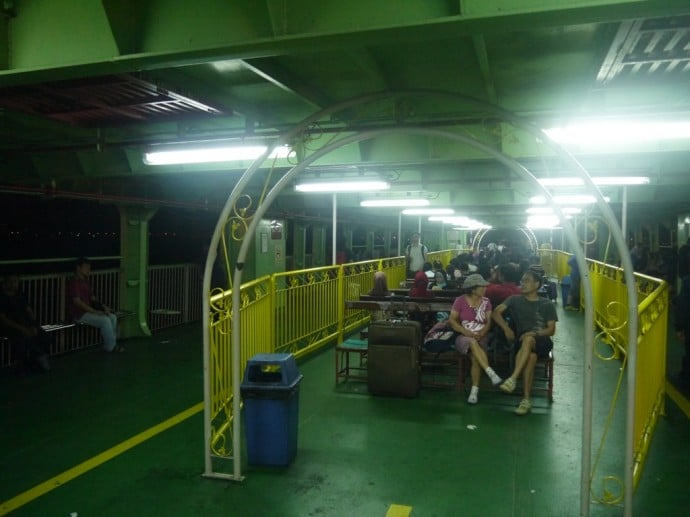 Seating On The Penang Ferry