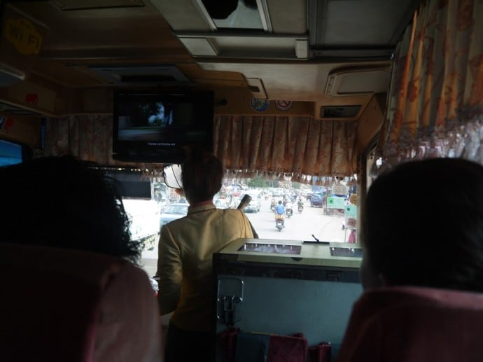Our Bus Sets Off From Phnom Penh