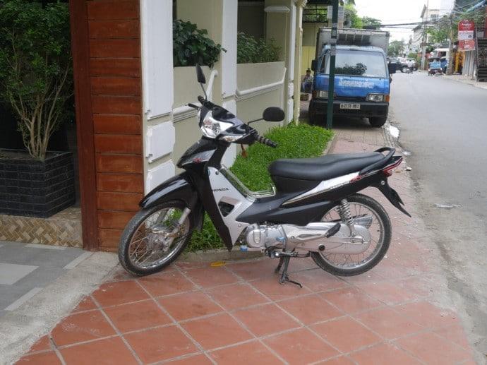 A Moto On The Street In Phnom Penh