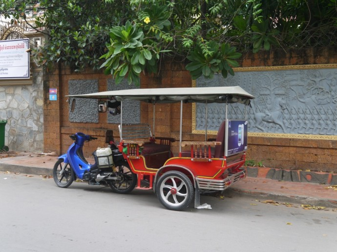 Tuk Tuk Outside Our Hotel In Phnom Penh
