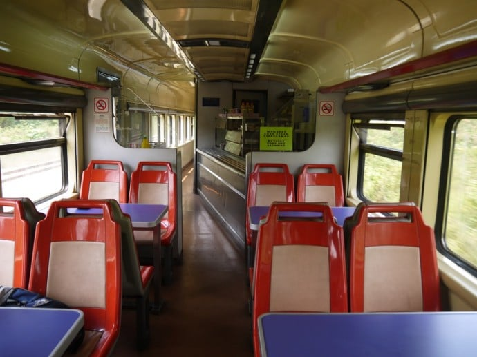 Buffet Car On Butterworth To Singapore Train