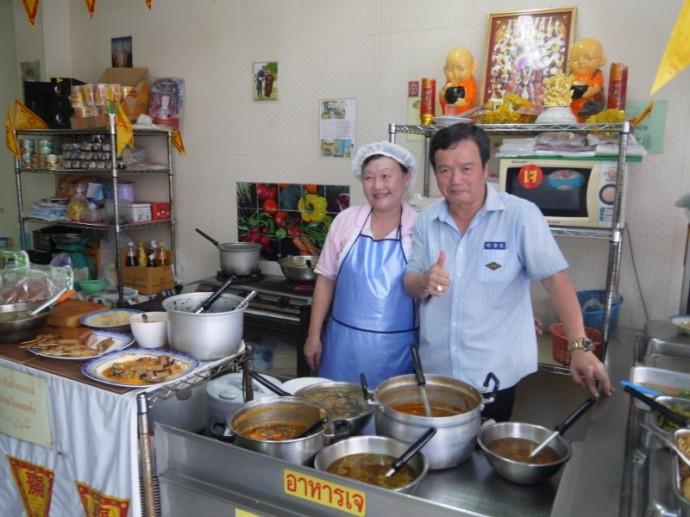 Husband & Wife Owners Of A-Ma Vegetarian, Silom
