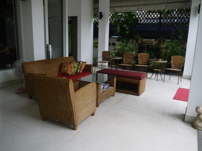 Seating At The Front Of The Hotel