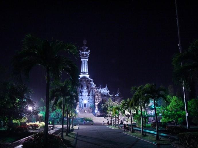 Bajra Sandhi Monument At Night