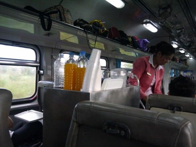 Refreshments On The Bangkok To Surin Train