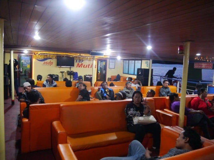 Upper Deck Of Gilimanuk To Banyuwangi Ferry
