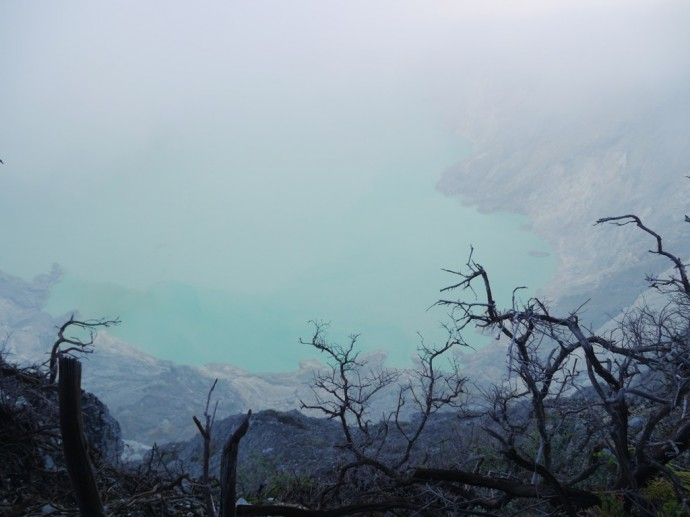 Acid Lake At Ijen Crater