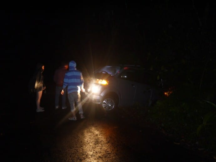Our Car In The Ditch