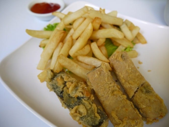 Veggie Feast & Chips At Loving Hut, Surabaya