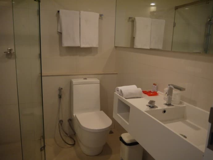 Ultra-Modern Bathroom At Marvin Suites