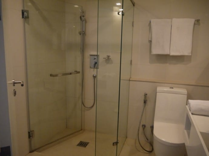 Large Shower At Marvin Suites, Bangkok