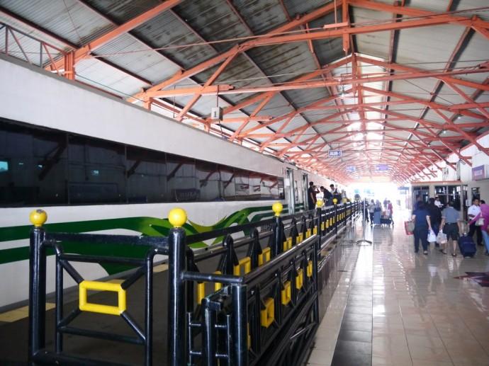 Jakarta Train About To Leave Surabaya Pasarturi Station