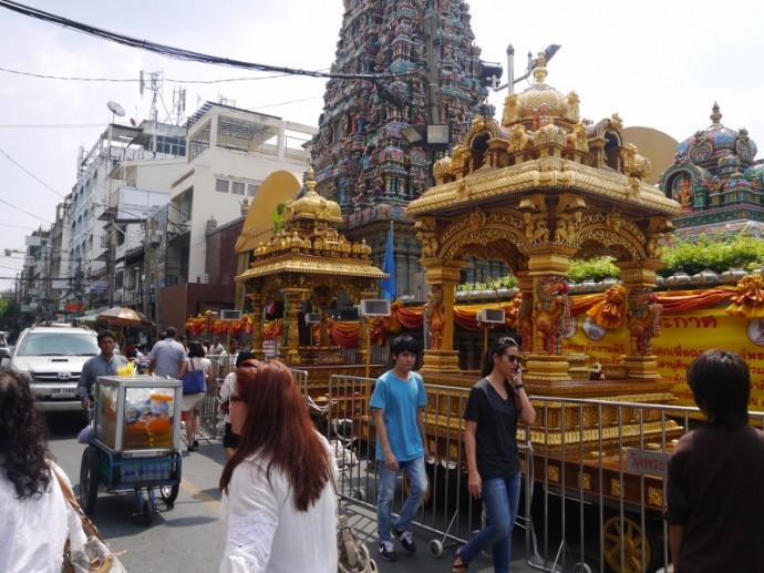 Outside Sri Maha Mariamman Temple On Pan Road