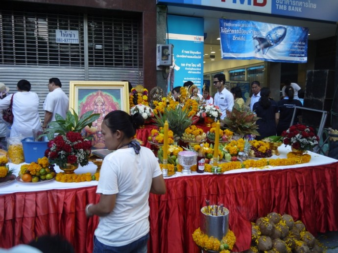 Another Hindu Shrine On Silom Road