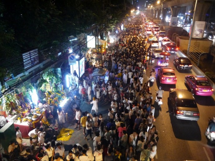 Crowds On Sathorn Road