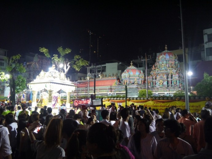 Navaratri Hindu Festival At Sri Maha Mariamman Temple, Silom, Bangkok