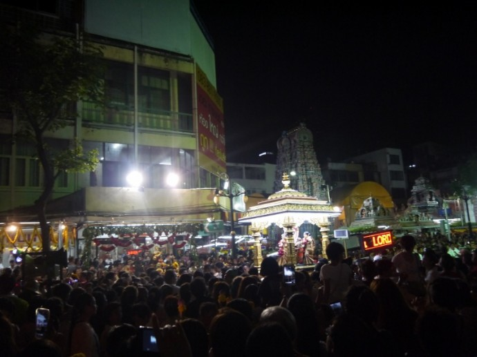 Procession Leaving Sri Maha Mariamman Temple On Silom Road