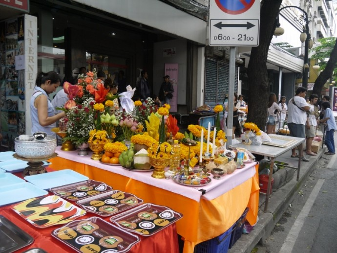 Silom Road Is Ablaze With Color Today