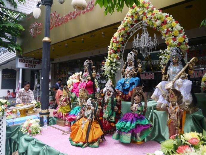A Hindu Shrine On Silom Road, Bangkok