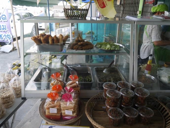 Food Display At Sanchai J Food, Surin