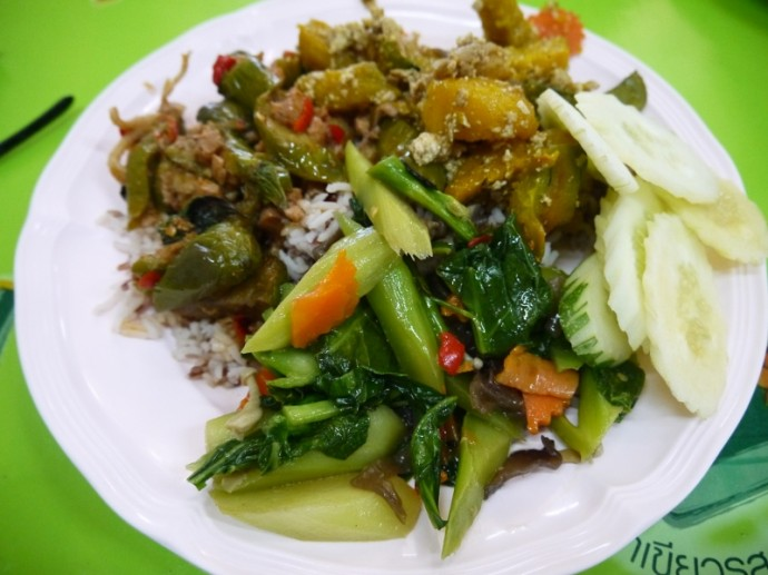 Lunch At SV Vegetarian, Sathorn Soi 8 Food Court