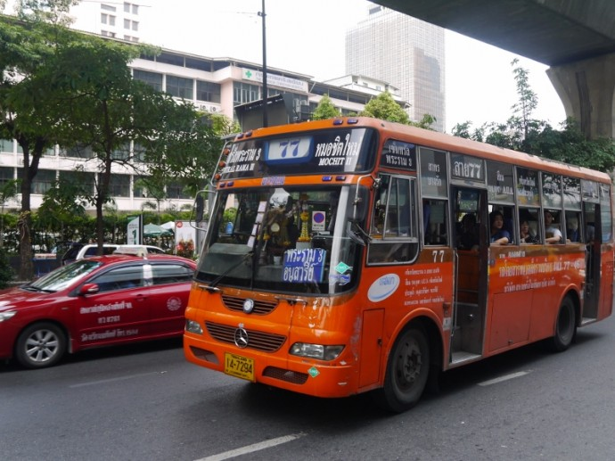 The No. 77 Bus On Silom Road