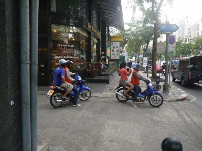 Motorbike Taxis In Silom