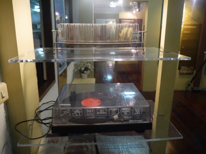 1970s Record Player And Record Rack